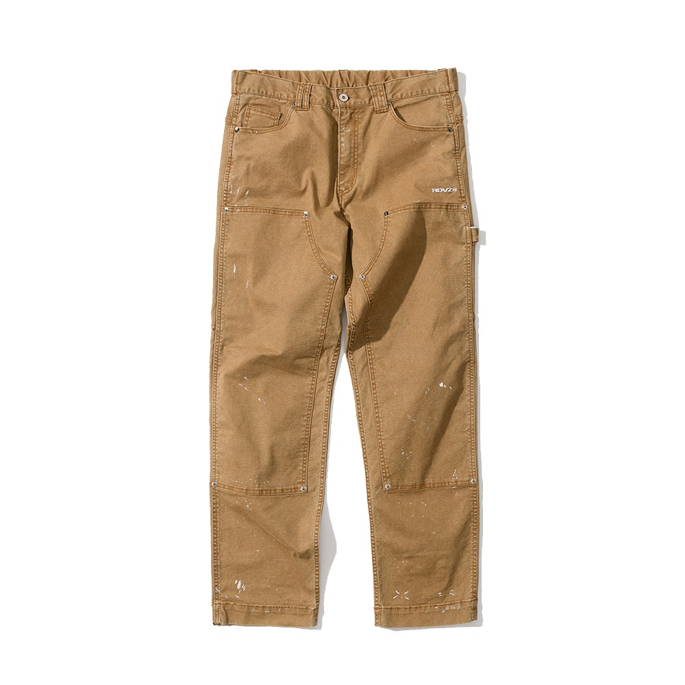 랑데부 DISTRESSED DETAIL PANEL PANTS BEIGE