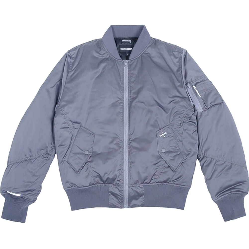 랑데부 Center Block MA-1 Jacket Grey