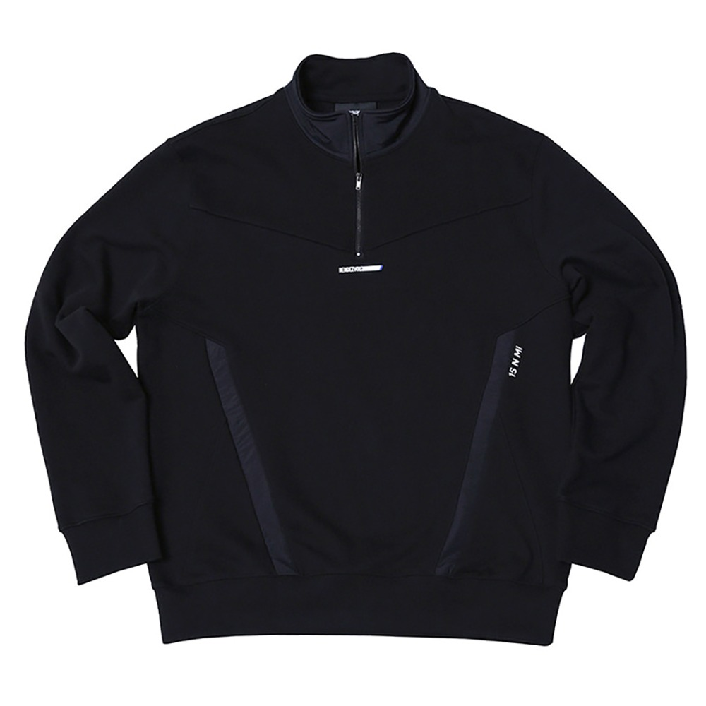 랑데부 Pocket Block Sweat Zip Up Black