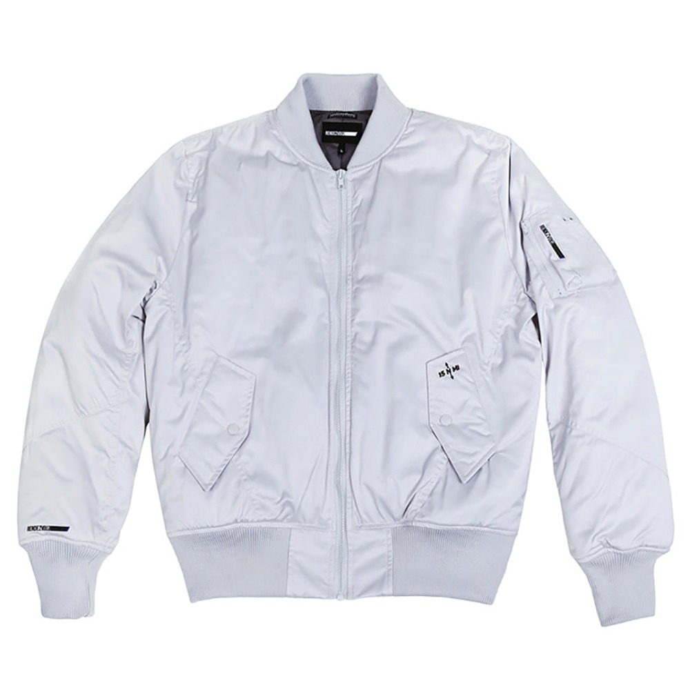 랑데부 Center Block MA-1 Jacket Lightsilver
