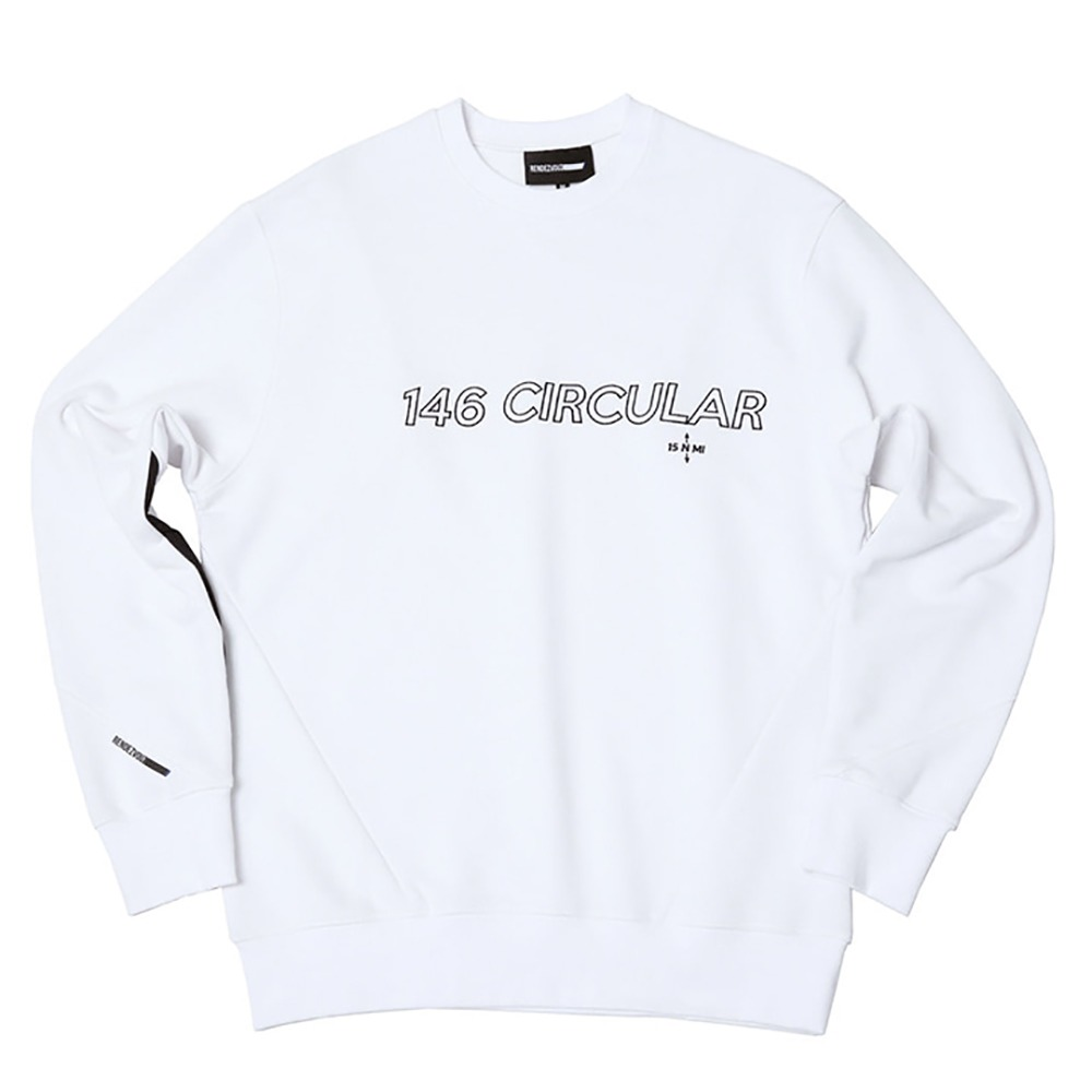 랑데부 146Circular Sweat Top White