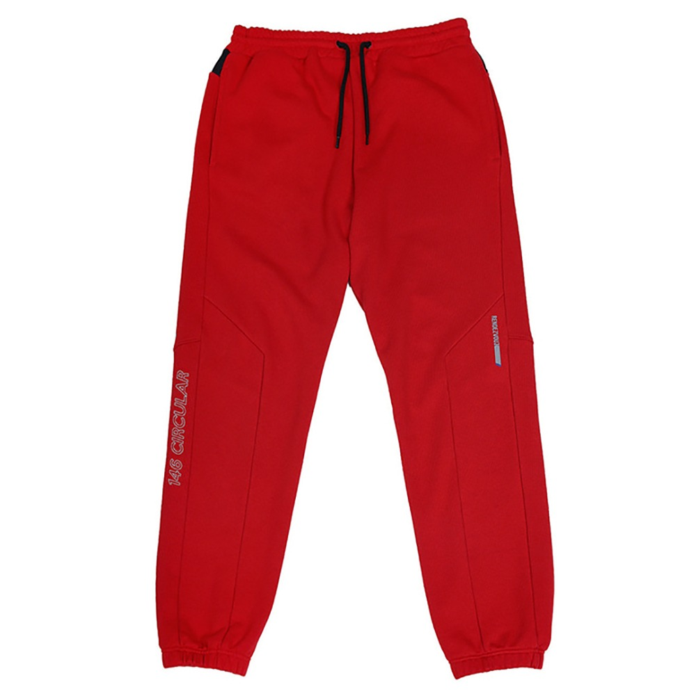 랑데부 Pocket Block Oversized Sweat Pants Red